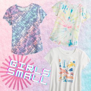 Girls Small T-Shirt Bundle, Tie Dyed, STEM Careers